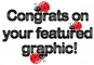 congrats on your featured graphic ladybug