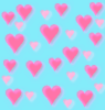 kawaii pink and blue hearts background