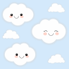 Kawaii Clouds with blue sky